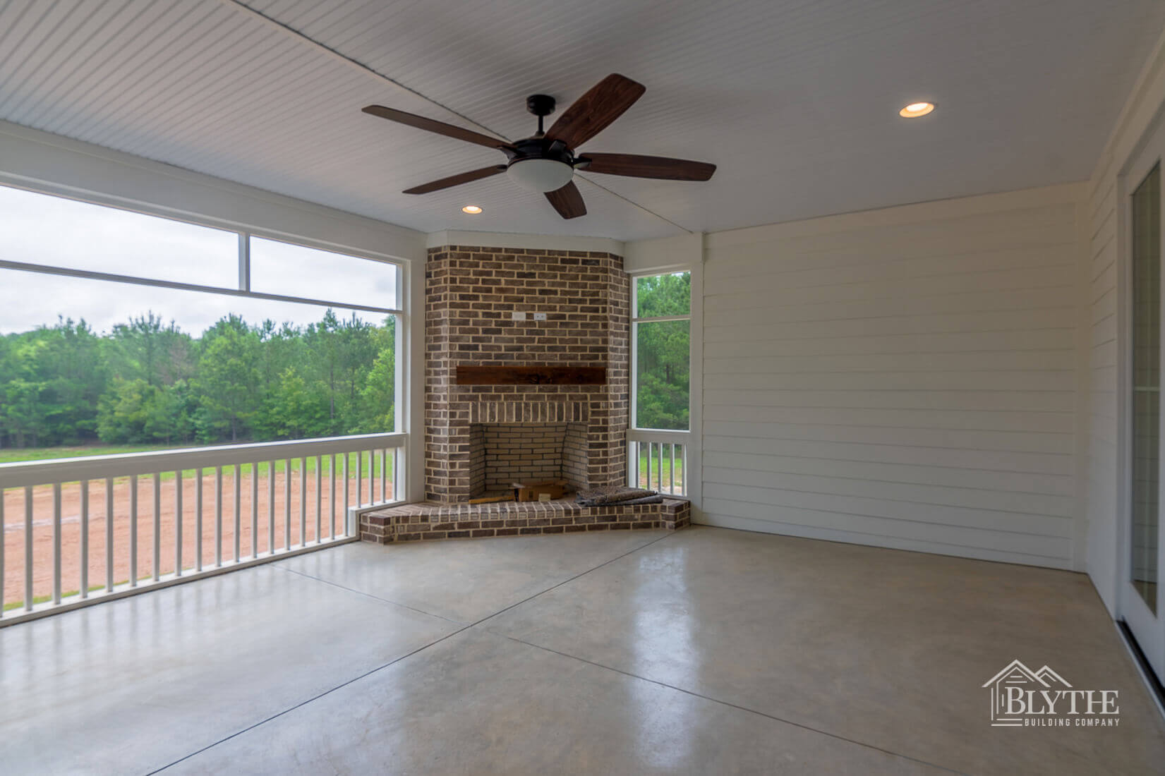 fireplace back patio home builder sc