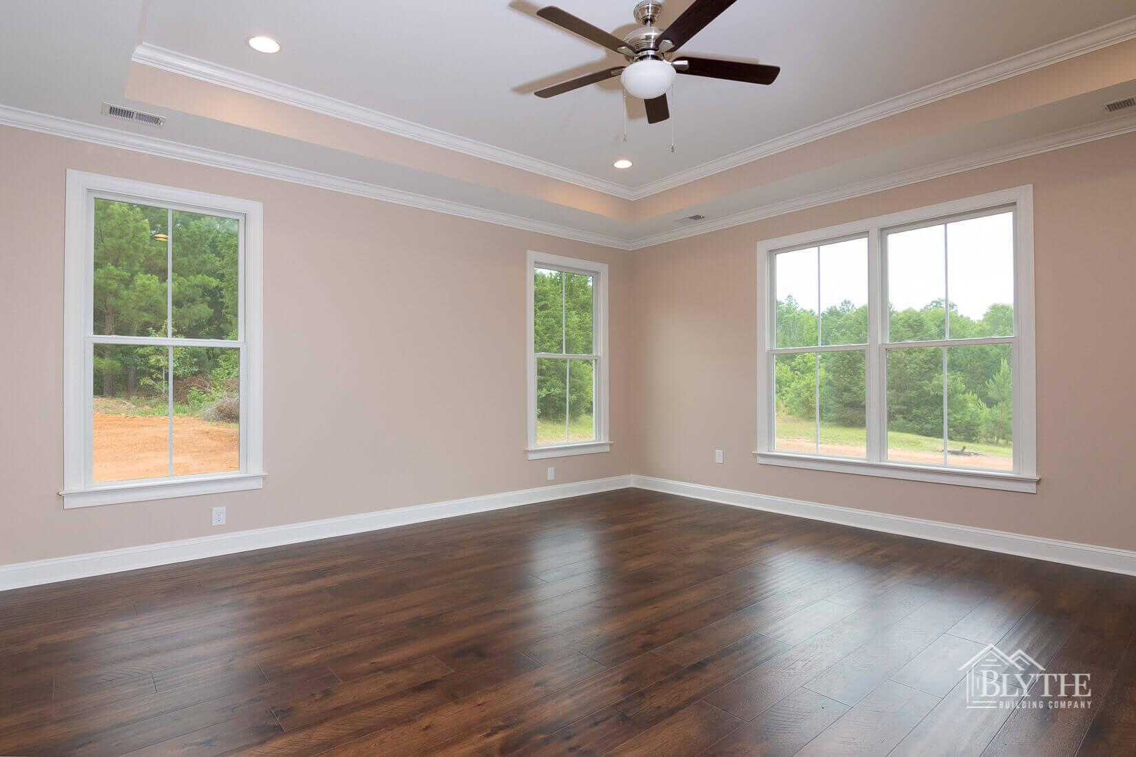 hardwood floors multi-purpose room home builder sc