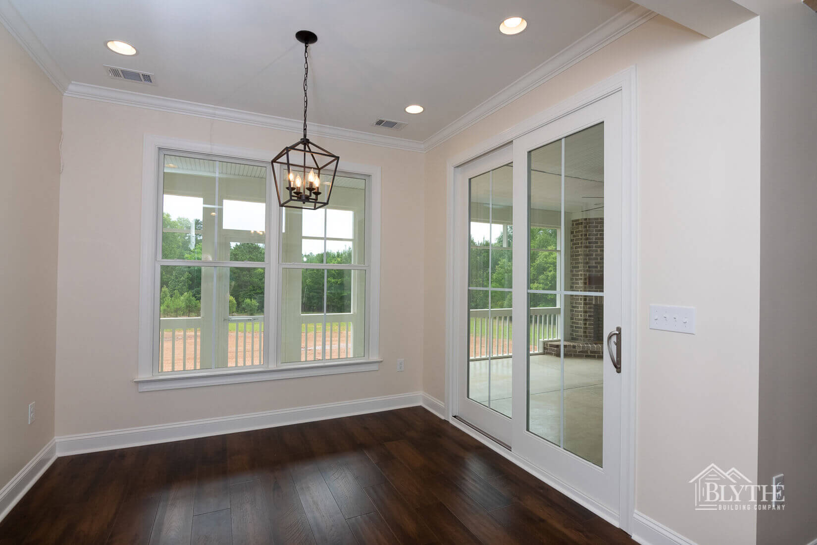 hardwood floors way to back yard home builder sc